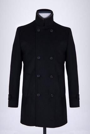 Hatemoğlu Siyah Kruvaze Palto