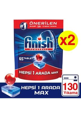 Finish Hepsi Bir Arada 130 Tablet Bulaşık Makinesi Deterjanı (65x2)