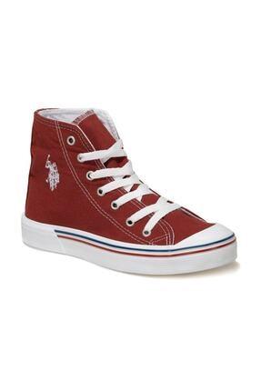 U.S. Polo Assn. PENELOPE HIGH 1FX Bordo Kadın Havuz Taban Sneaker 100910636
