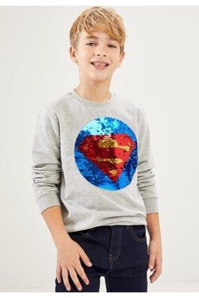 DeFacto Erkek Çocuk Pul Payetli Süperman&batman Lisanslı Sweatshirt