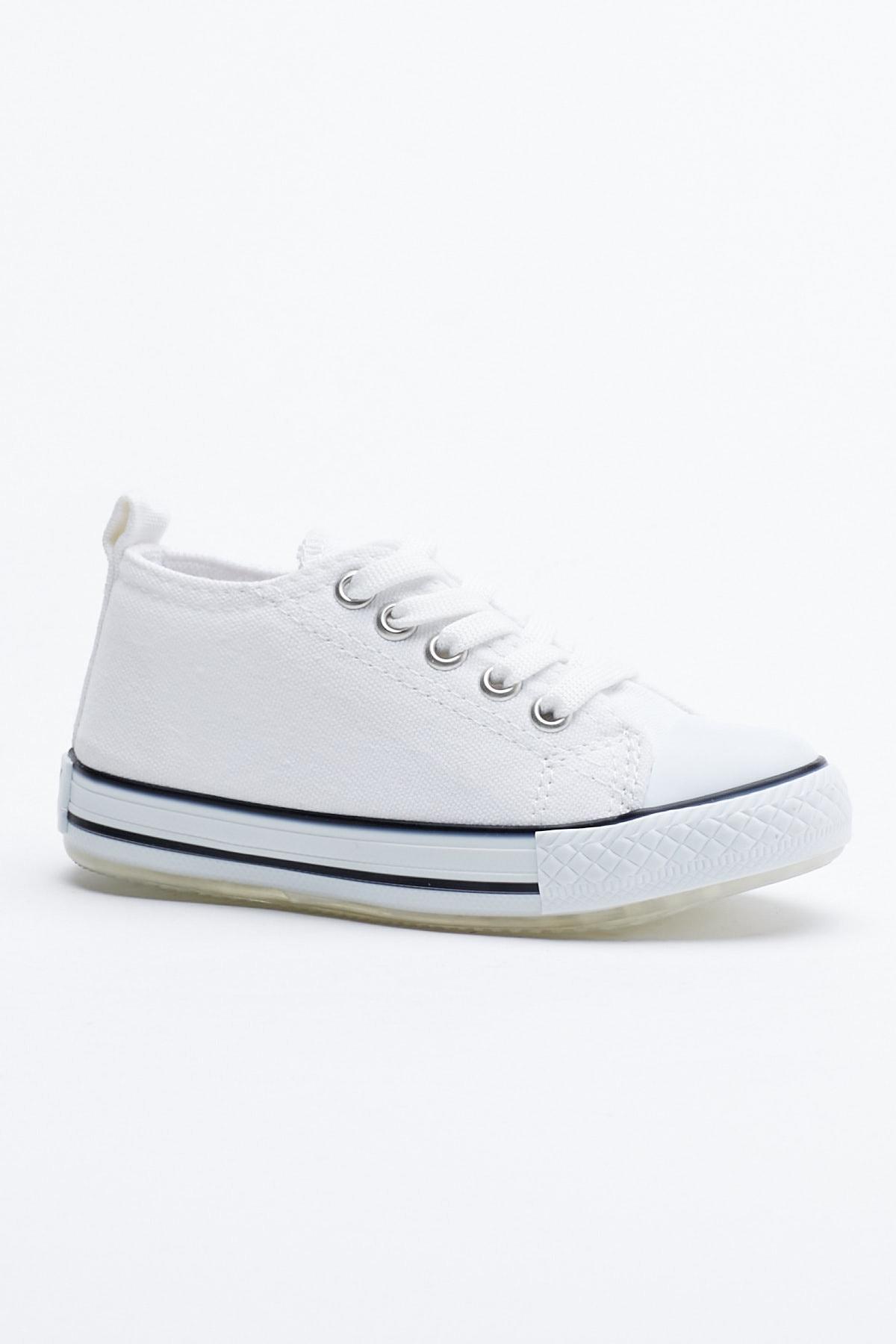 Tonny Black Beyaz Çocuk Spor Ayakkabı Tb998