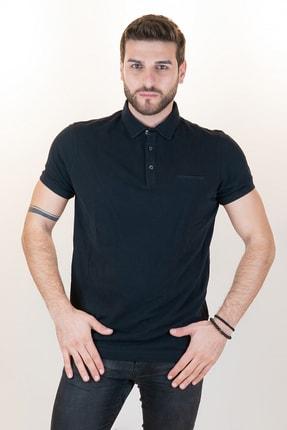 Lufian Erkek Siyah Polo Yaka T-shirt