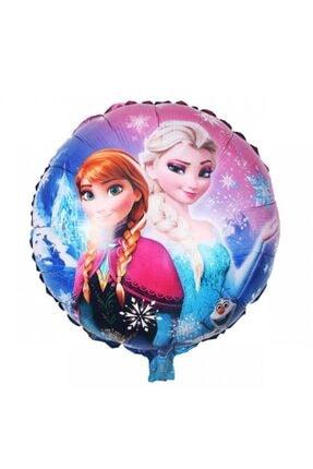 Frozen Elsa Anna Yuvarlak Folyo Balon 45 cm 1 Adet