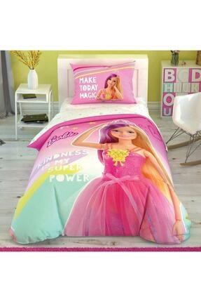 Taç Lisanslı Barbie Kindnes Tek Kişilik Nevresim Takımı