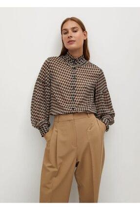 MANGO Woman Kadın Bej Gömlek