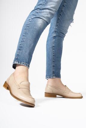 CZ London Kadın Hakiki Deri Günlük Bağcıksız Klasik Loafer Ayakkabı