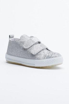 Tonny Black Gümüş Çocuk Spor Ayakkabı Cırtlı Tb997