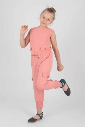 Ahenk Kids Kız Çocuk Düğme Detaylı 2li Takım