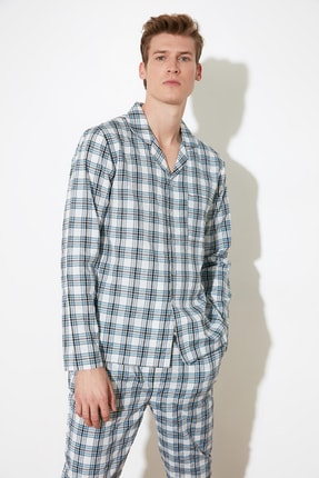 TRENDYOL MAN Ekoseli Dokuma Pijama Takımı THMSS21PT0254