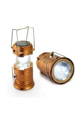 MH Şarjlı Kamp Lambası Güneş Enerjili Kızaklı Kamp Feneri Led Lamba Işıldak