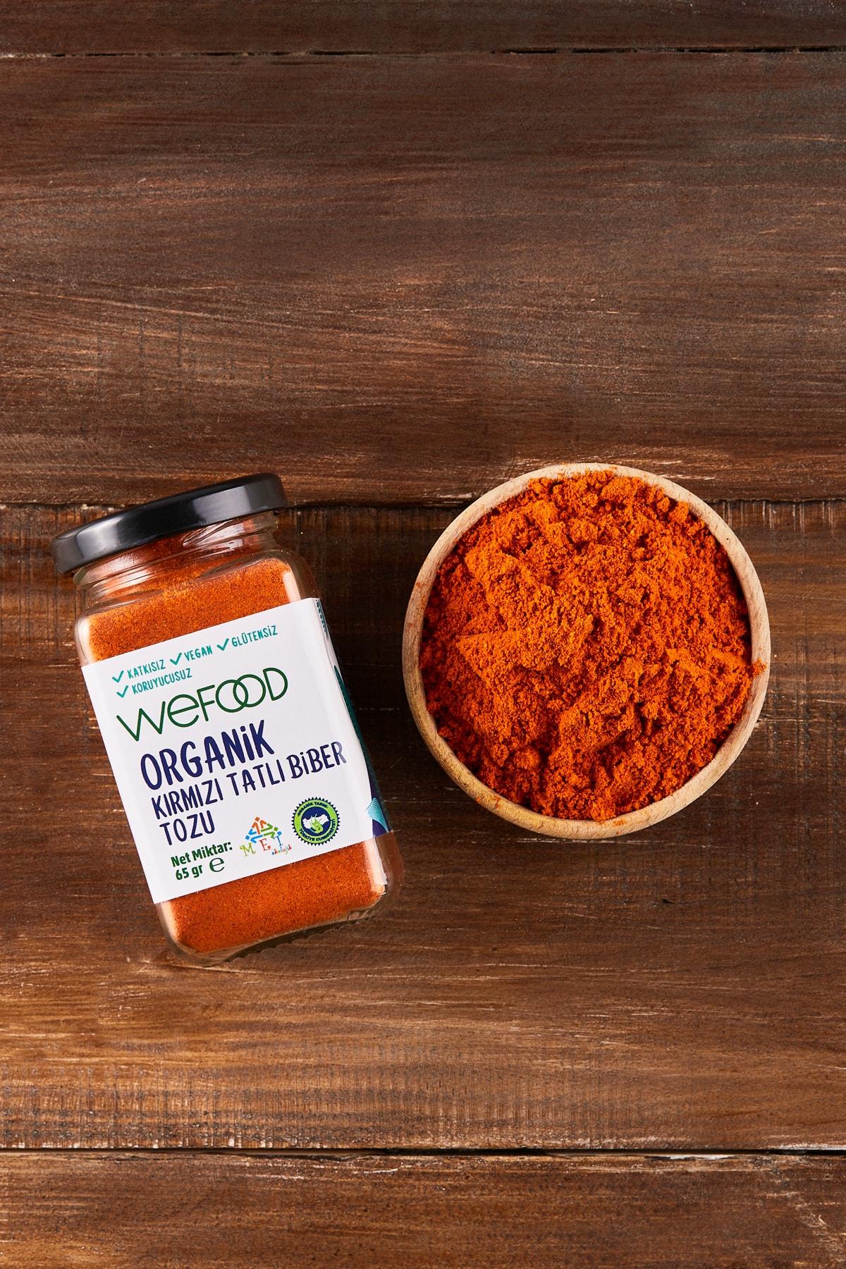Wefood Organik Kırmızı Tatlı Biber Tozu 65 Gr 2