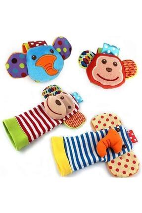 Sozzy Toys Sevimli Hayvanlar Figürlü Çıngıraklı Çorap Ve Bileklik Seti
