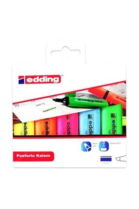 Edding Fosforlu Kalem 5 Li Karışık Ed344p599