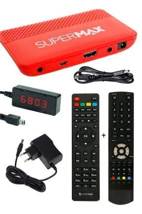 SÜPERMAX Supermax Jumbo Plus Hd Dijital Uydu Alıcısı - 2 Kumanda - Wifi 2020 - Youtube - Xtream - Ultra Hd
