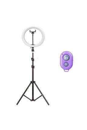 Sentor 10 Inch Ring Light Led Işık Halka Işık Youtuber,kuaför+ 2 Mt Tripod Işık Ayağı+bluetooth Kumandalı