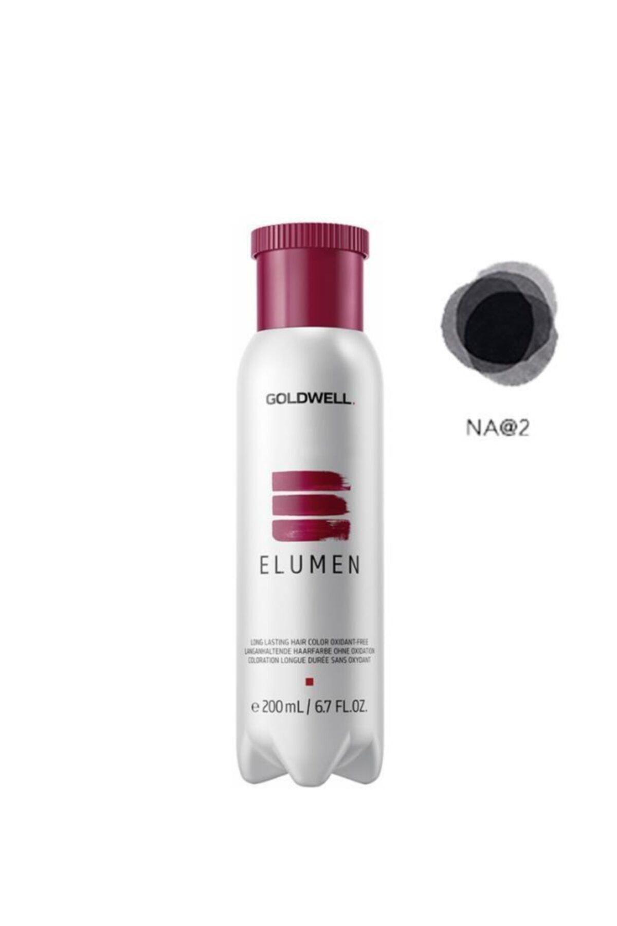 GOLDWELL Elumen Saç Boyası Na@2 Doğal Küllü Siyah 200 ml 1