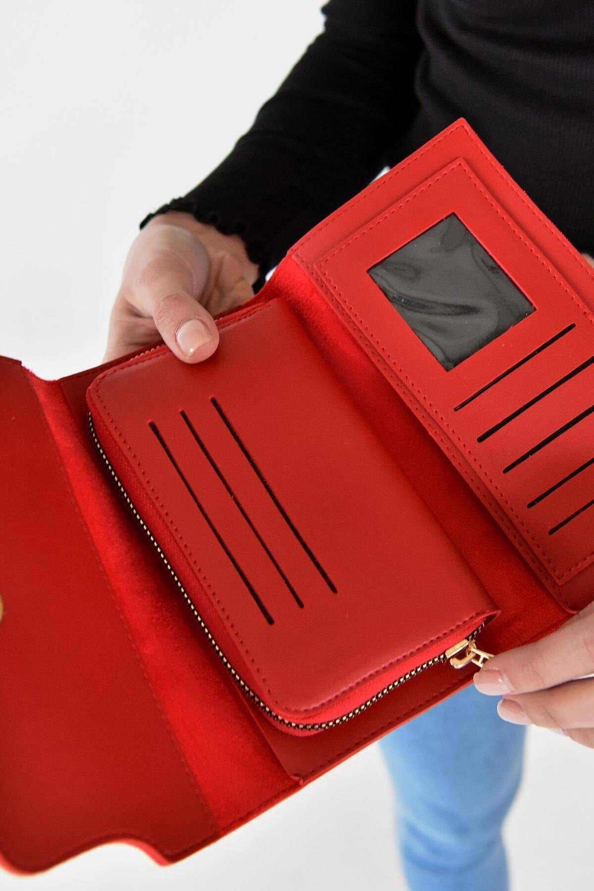 Addax Kadın Kırmızı Cüzdan Czdn55 - F6 ADX-0000019896 2