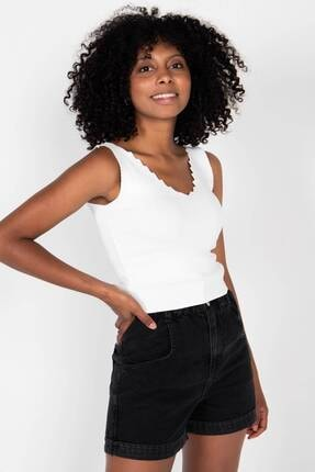 Addax Kadın Beyaz Triko Bluz T10139 - E12 Adx-0000022137