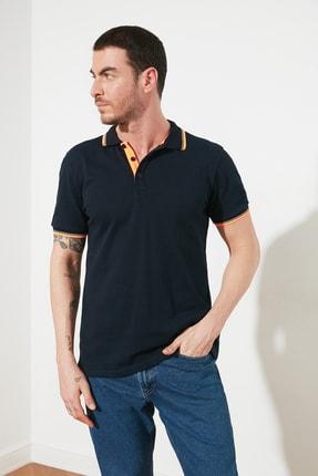 TRENDYOL MAN Lacivert Erkek Regular Fit Polo Yaka T-shirt TMNSS20PO0149