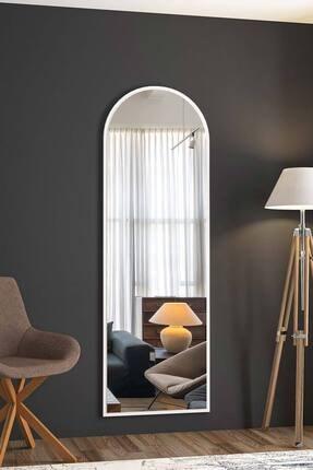 bluecape Dev Boy 180cm Beyaz Ayna Salon Ofis Mutfak Çocuk Yemek Odası Duvar Konsol Boy Aynası