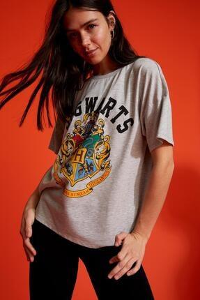 DeFacto Harry Potter Lisanslı Oversize Kısa Kollu Tişört
