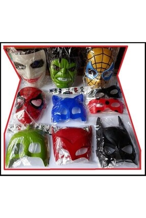 RoseRoi Hulk Joker Batman Pijamaskeliler Uğurböceği Karakedi Örümcek 10 Maske