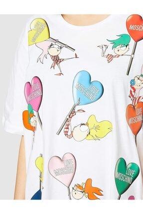 Love Moschino Kadın Beyaz T-shirt