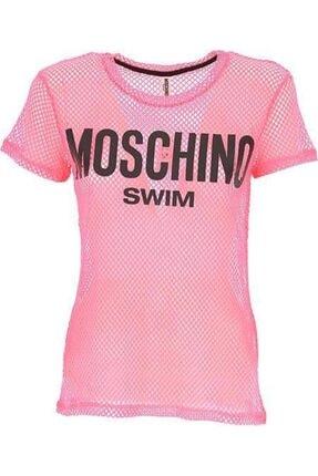 Moschino Kadın Pembe Baskılı T-shirt