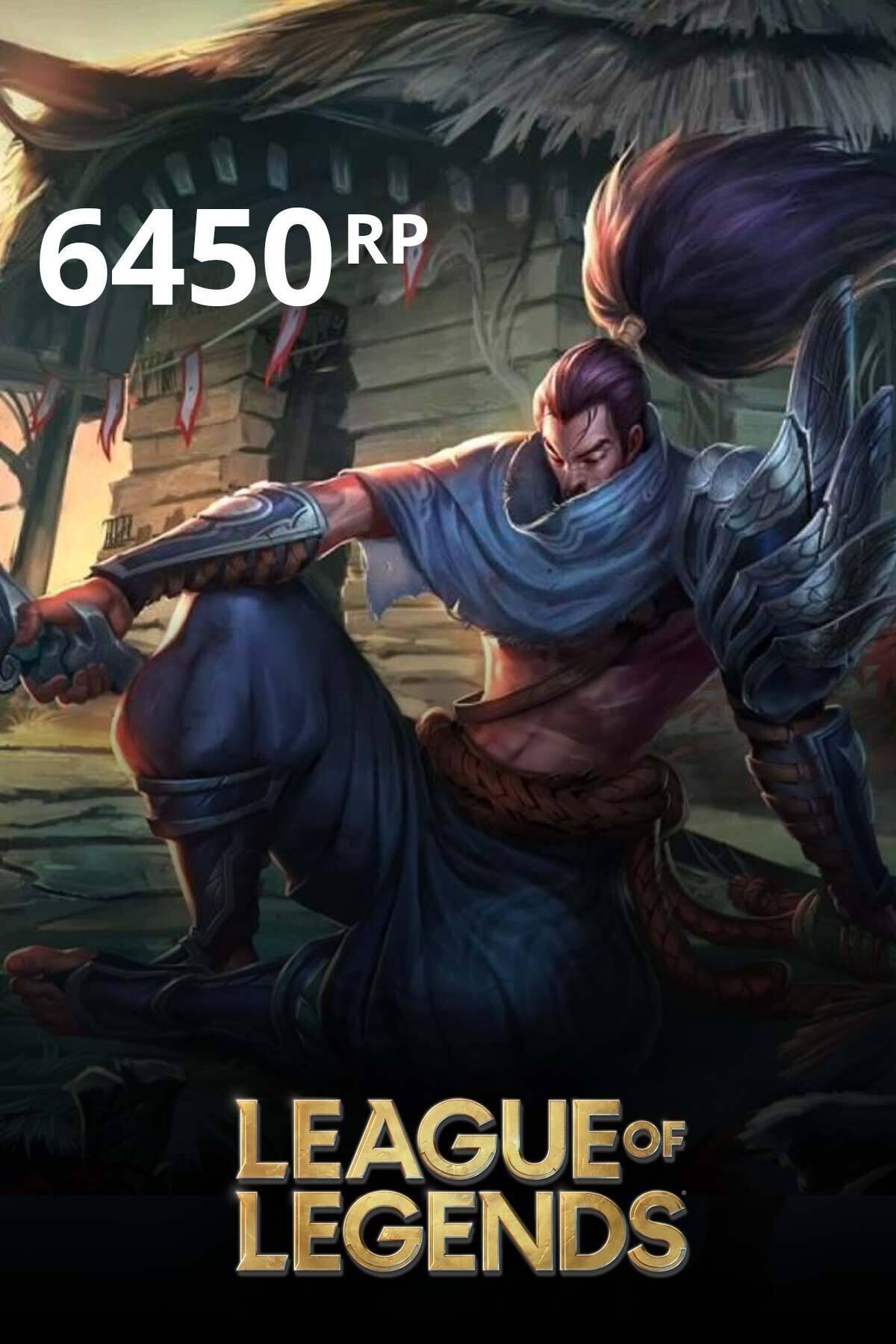 Riot Games League Of Legends 6450 Rp TR
