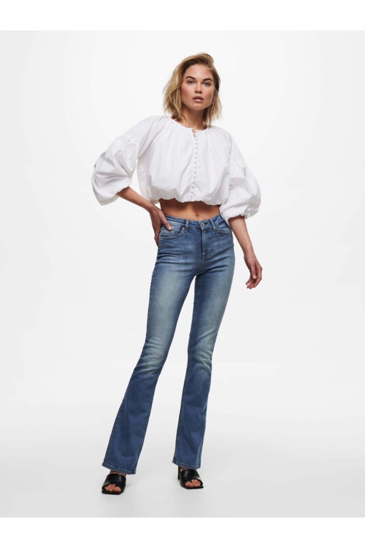Only Onlblush Bol Paça Jeans 15223514 2