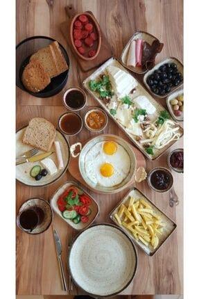 Kütahya Porselen 34 Parça Corendon Bej Kahvaltı Seti