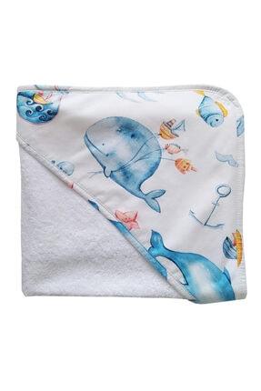 Blue & Pink Marine Bebek Banyo Kundağı 75x75