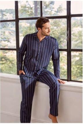 Eros Pijama Eros Ese27066 Önden Düğmeli Erkek Pijama Takımı
