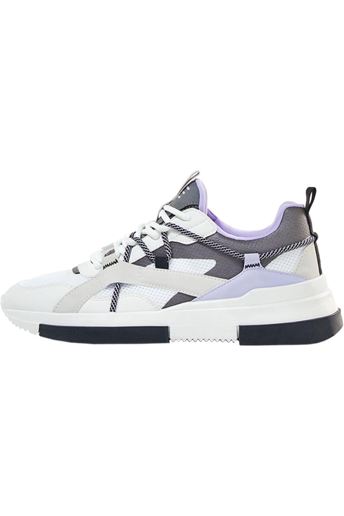 Bershka Kontrast Bağcıklı Spor Ayakkabı 2