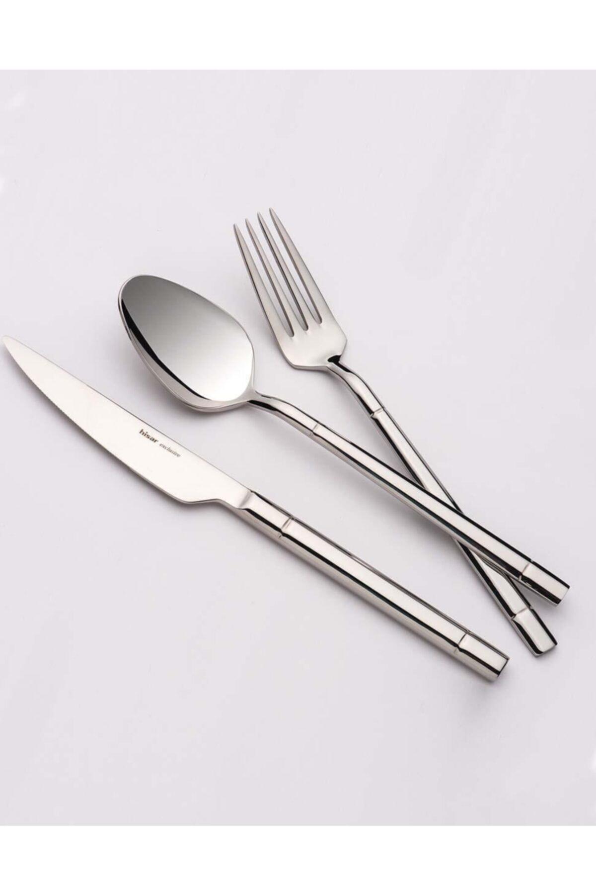 Hisar Verona 24 Parça Çelik Yemek Çatal Kaşık Bıçak Seti 1