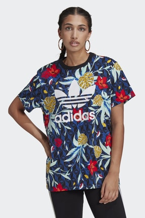 adidas Kadın Lacivert Günlük T-shirt Gl1369