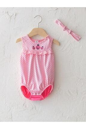 LC Waikiki Kız Bebek Pembe Askılı Çıtçıtlı Body