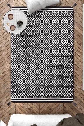 Caretta Home 120x180 Mozaik Desenli Ponponlu Dokuma Kilim