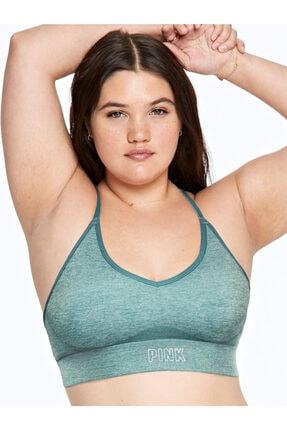 Victoria's Secret Kadın Yeşil Pınk Seamless Lightly Lines Spor Sütyen