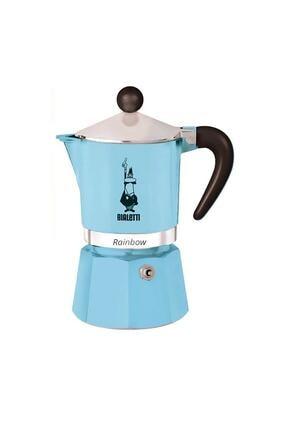 Bialetti Açık Mavi Moka Pot Rainbow 3 Cup