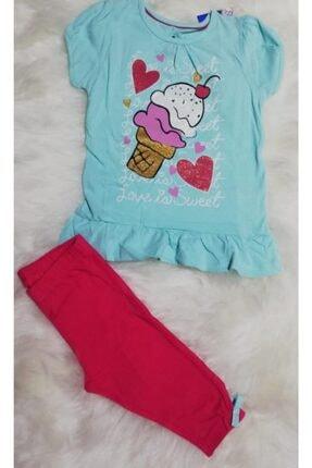 Wonder Kıds Kız Çocuk Yazlık Taytlı Pijama Takımı