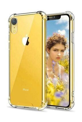 Telefon Aksesuarları Zengin Çarşım Apple iPhone XR Ultra İnce Şeffaf Airbag Anti Şok Silikon Kılıf - Şeffaf
