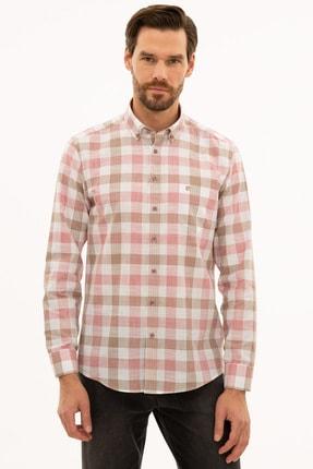 Pierre Cardin Erkek Kırmızı Regular Fit Gömlek G021GL004.000.1113553
