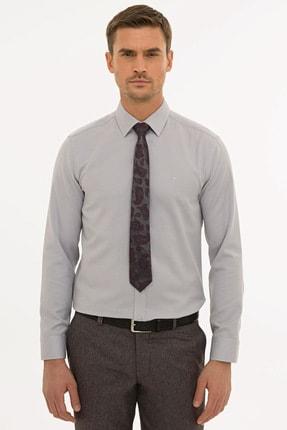 Pierre Cardin Erkek Gri Slim Fit Oxford Gömlek G021GL004.000.1214553