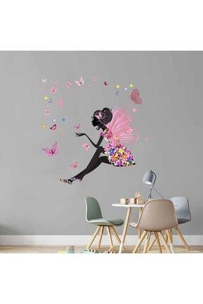 KT Decor Kelebeklere Fısıldamak Kız Çocuk Duvar Sticker Seti