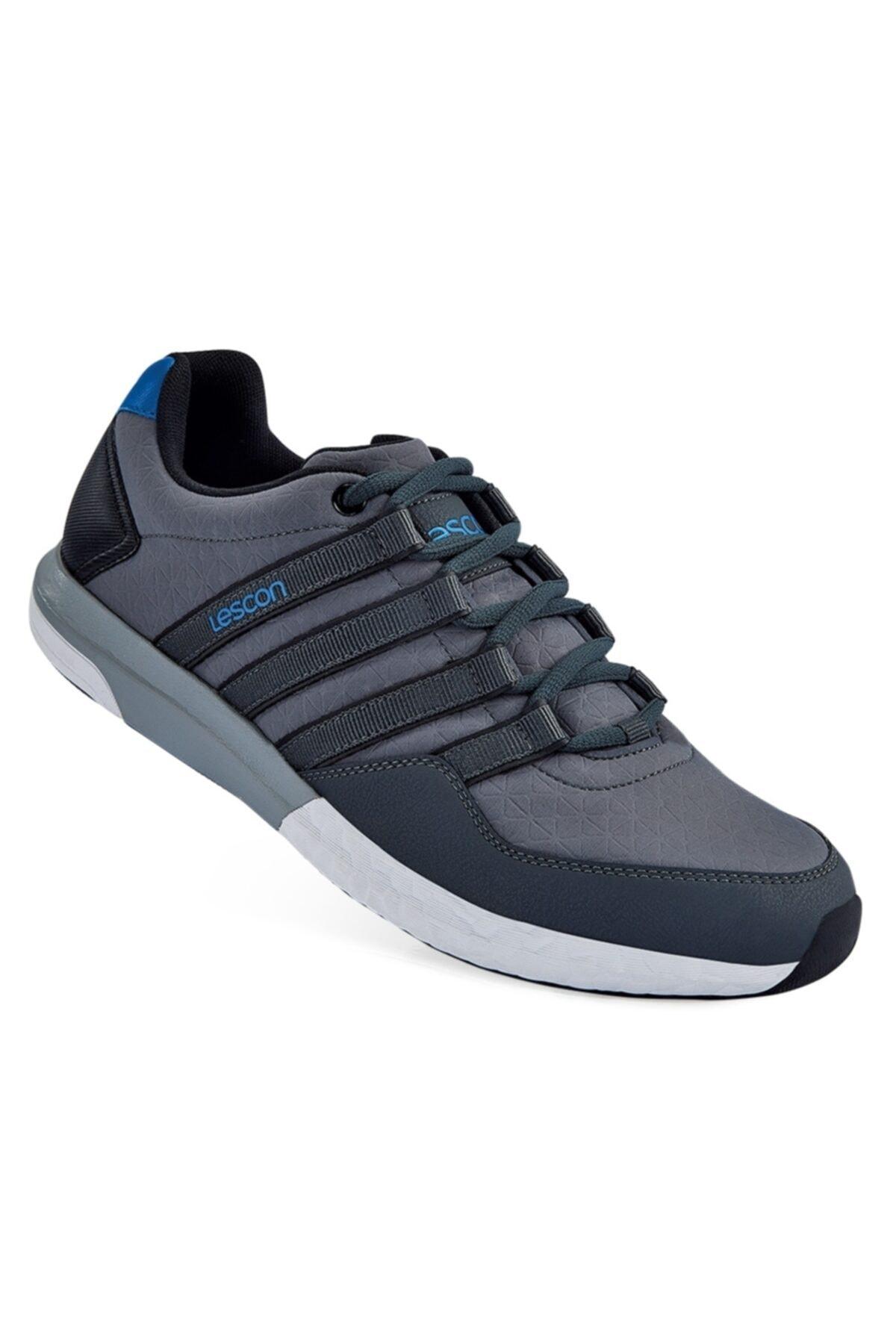 Lescon Unisex Füme Bağcıklı Easystep Spor Ayakkabı 1