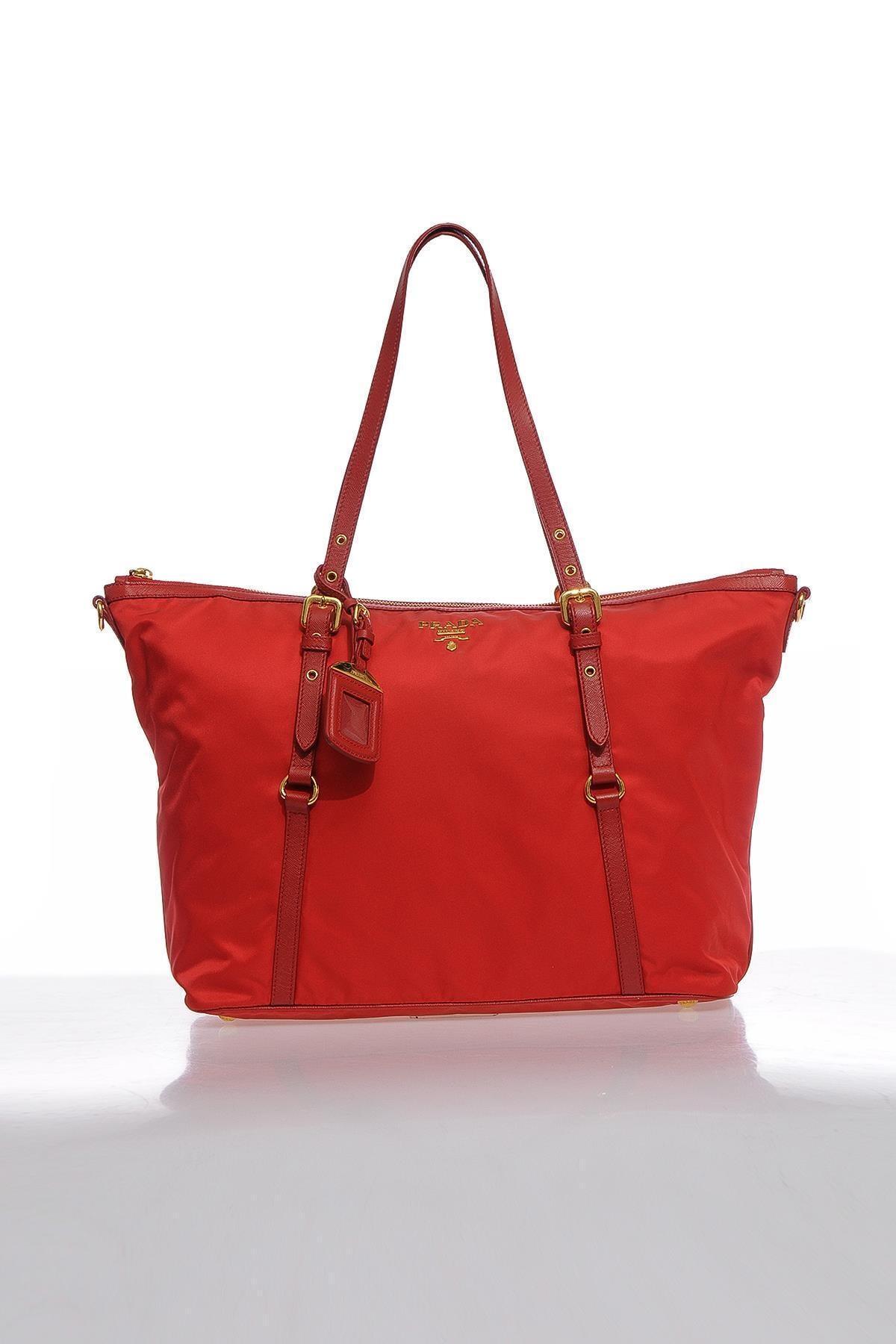 Prada Kadın Kırmızı Omuz Çantası 1