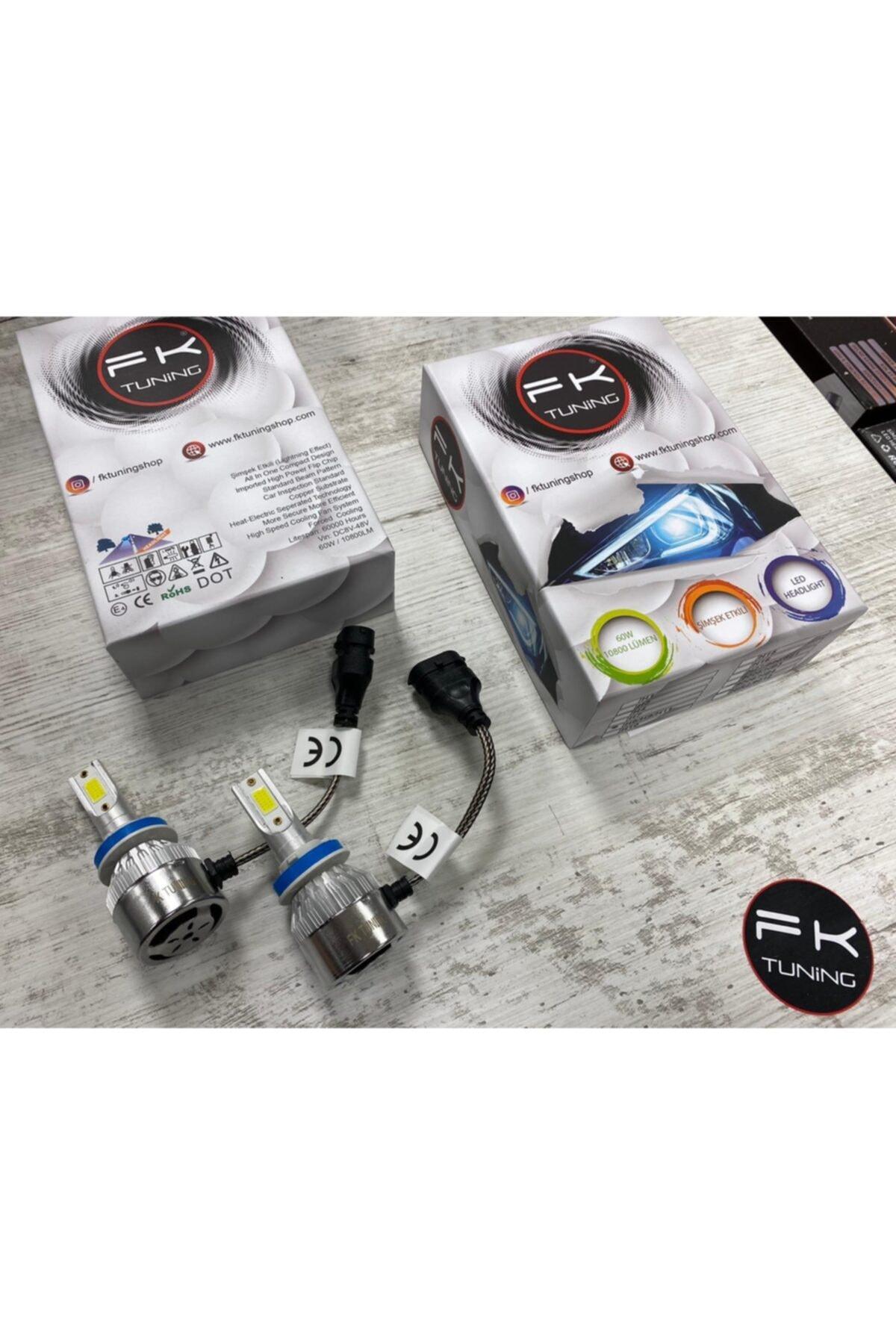 FK TUNING H7 Şimşek Etkili Led Xenon Zenon Far Ampülü 10800 Lümen 1