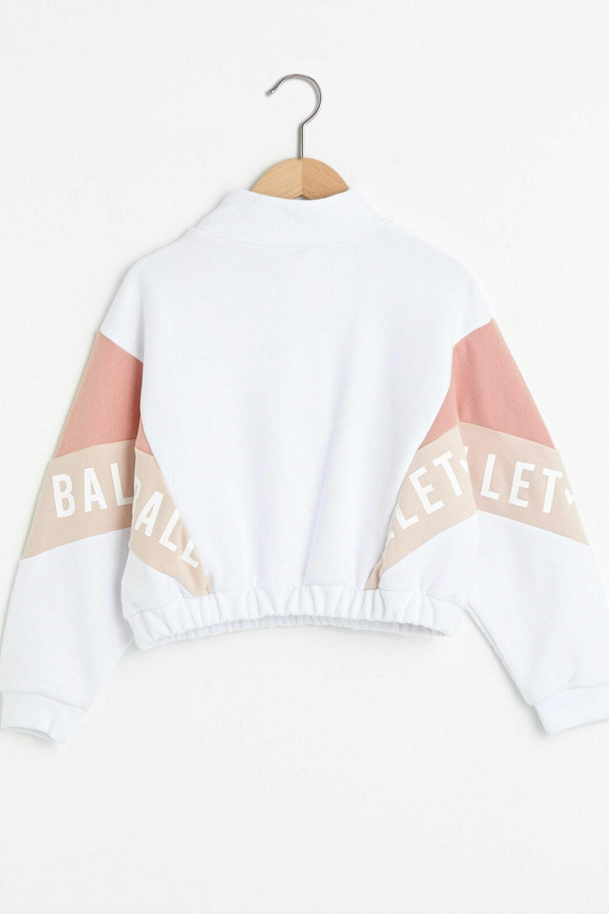 LC Waikiki Kız Çocuk Optik Beyaz Ffb Sweatshirt 2