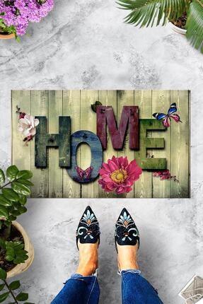 Evsebu Ahşap Renkli Home Dekoratif Kapı Önü Paspası
